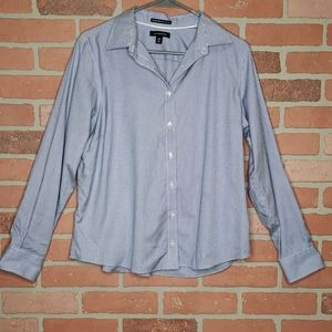 {Lands' End} No iron pinpoint oxford- 14 p